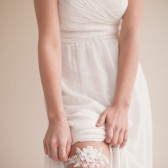 Lace and Beaded Garter Something Blue - Iris
