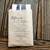 Kraft Menu Bag
