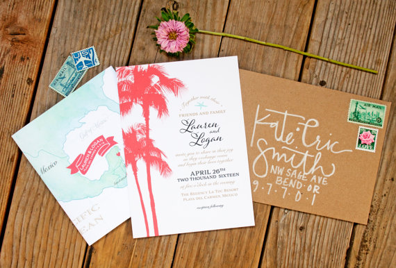 mexico wedding invite