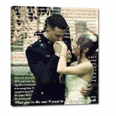 military wedding present for bride and groom