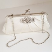 Millie Satin Bridal Clutch