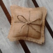 Mini Burlap Ring Bearer Pillow