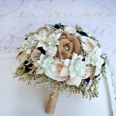Mint & Navy Rustic Wedding Bouquet
