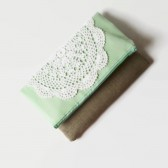 Mint Green Fold Over Clutch