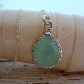 Mint Green Bridesmaid Necklace