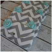 Mint Chevron Clutch