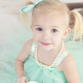 Mint tulle flower girl