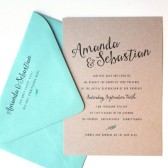 Mint Leaf Invites