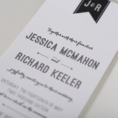 Modern Banner Letterpress Invitation