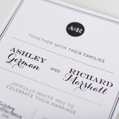 Modern Elegant Letterpress Invitation