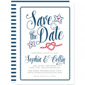 Nautical Modern Calligraphy Save The Dates by The Spotted Olive