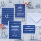 Modern Nautical Wedding Invitation