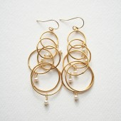 Modern Pearl Earrings