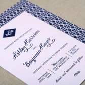 Diamond Monogram Wedding Invitation