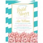 Modern Vintage Hydrangea Bridal Shower Invitations by The Spotted Olive