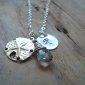 Monogrammed Sand Dollar Necklace