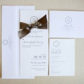 Modern Monogram Invitation Suite