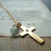 Personalized Gold Cross Necklace
