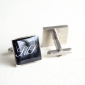 monogram cufflinks by white truffle