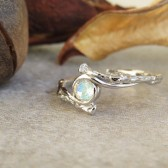 moonstone gold ring, moonstone engagement ring, unique moonstone ring