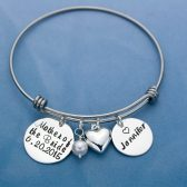 Mother of the Bride Personalized Bangle Bracelet