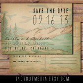 Mountain Woodland Save the Date
