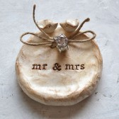 Package deal ... Wedding ring bearer bowl AND cake topper lovebirds to match ... mr mrs