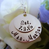 Hand Stamped Mrs. Necklace
