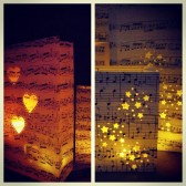 Sheet Music Lanterns