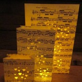Sheet Music Wedding Lanterns
