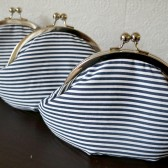Nautical bridesmaid clutches