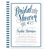 Nautical Modern Calligraphy Bridal Shower Invitations by The Spotted Olive