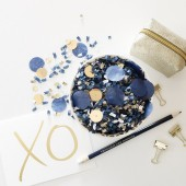 Navy & Gold Confetti Mix – Premium Quality