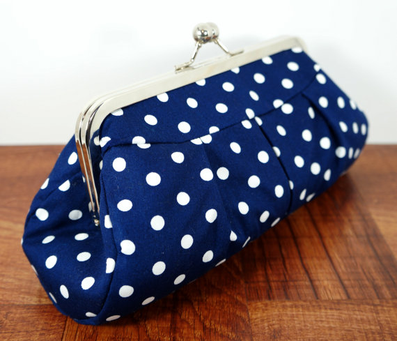 navy blue polka dot purse 2