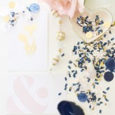 Navy, Blush & Gold Confetti Mix – Premium Quality