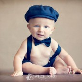 Henry Newsboy Set in Navy natural linen/cotton