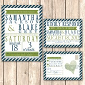 Nautical and Modern Wedding Invitations