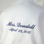 Personalized Robe Bride front & back embroidery