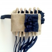 Ruffle Wristlets in Navy