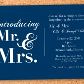 new mr.&mrs. couples shower invite