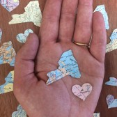 New York Wedding Map Confetti, I Love New York