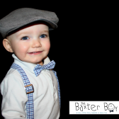 Grey corduroy newsboy hat