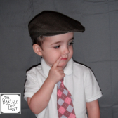 Brown heather polyester newsboy hat