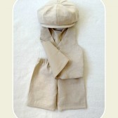 Oatmeal Linen Newsboy Suit