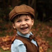 Hat, Vest, and Tie in Brown Tweed