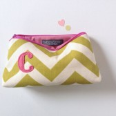 Olive & Rose Personalized Initial Cosmetic Bags for Bridesmaids