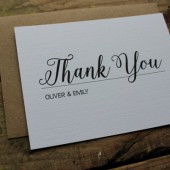 Custom Wedding Thank You Card