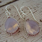 Lavender Teardrop Bridesmaid Earrings