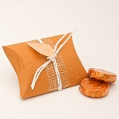 Orange Pillow Favor Box