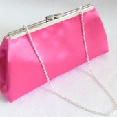 Hot Pink and Silver Flake Bridal Clutch